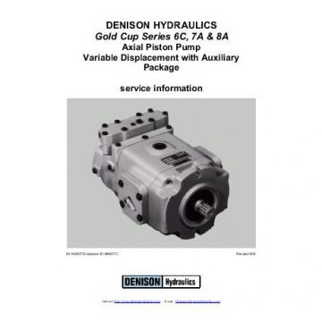 Dension Belize gold cup piston pump P30L-8L5E-9A4-A0X-E0