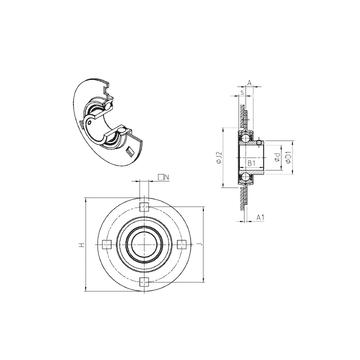 SNR USPF209 Bearing  Units