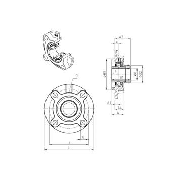 SNR EXFC201 Bearing  Units