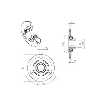 SNR USPF205 Bearing  Units